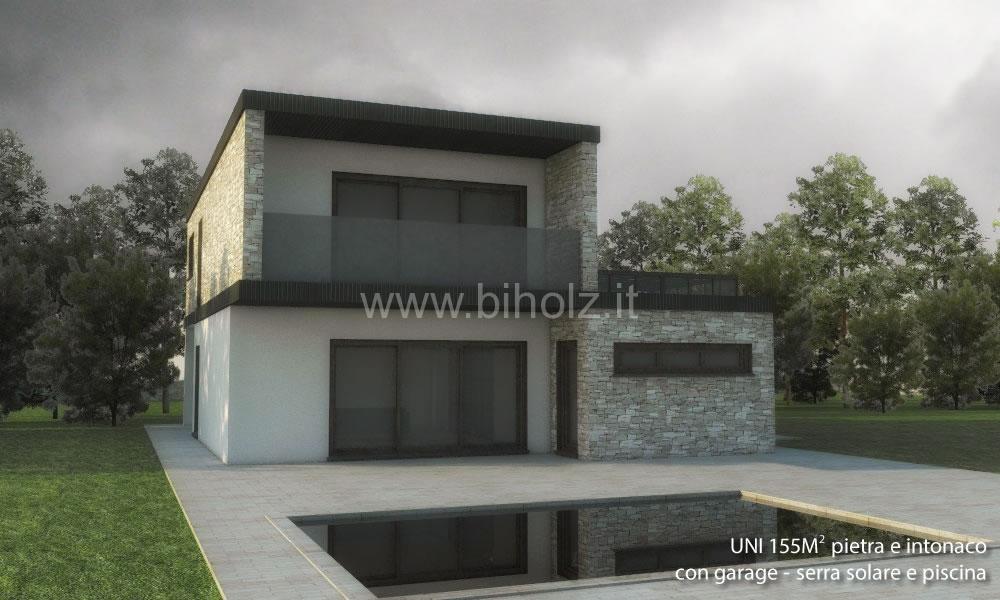 Case linea comfort biholz case in legno for Piccoli piani di casa con cantina e garage